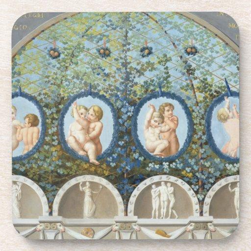 Diseñe para un fresco del techo, c.1780 publicado  posavasos