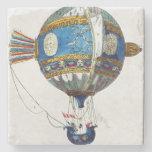Diseñe para un globo de aire caliente con un diáme posavasos de piedra