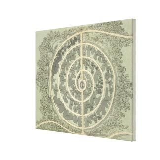 Diseñe para un jardín botánico, de 'indirectas en  impresiones en lienzo estiradas