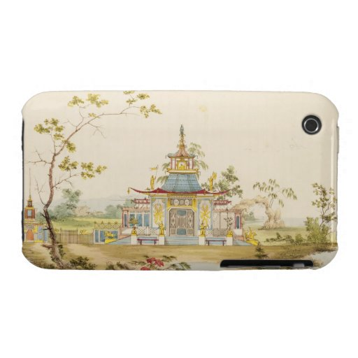 Diseñe para un templo chino, c.1810 (pluma y tinta iPhone 3 Case-Mate protectores