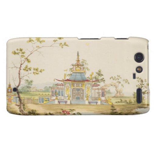 Diseñe para un templo chino, c.1810 (pluma y tinta droid RAZR fundas
