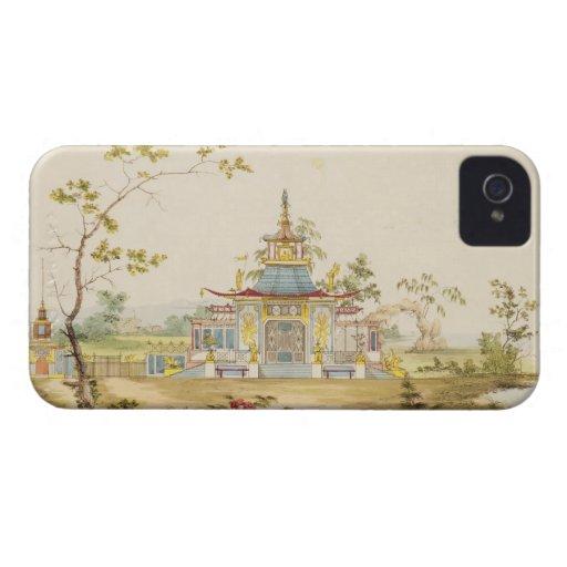 Diseñe para un templo chino, c.1810 (pluma y tinta iPhone 4 cárcasa