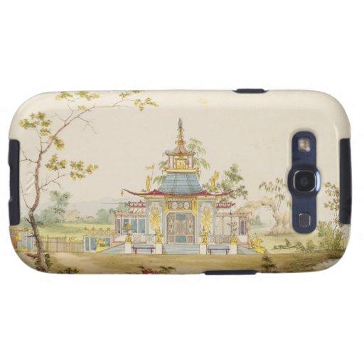Diseñe para un templo chino, c.1810 (pluma y tinta galaxy s3 funda