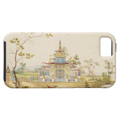 Diseñe para un templo chino, c.1810 (pluma y tinta iPhone 5 cobertura