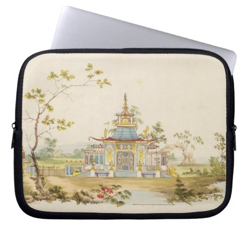 Diseñe para un templo chino, c.1810 (pluma y tinta fundas portátiles
