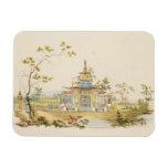 Diseñe para un templo chino, c.1810 (pluma y tinta imán de vinilo