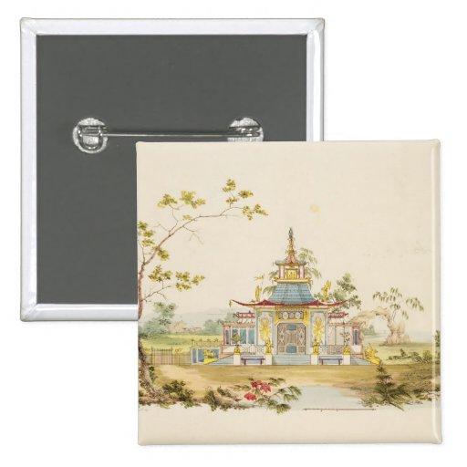 Diseñe para un templo chino, c.1810 (pluma y tinta pin