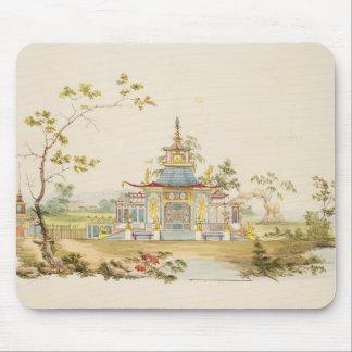 Diseñe para un templo chino, c.1810 (pluma y tinta tapetes de ratón