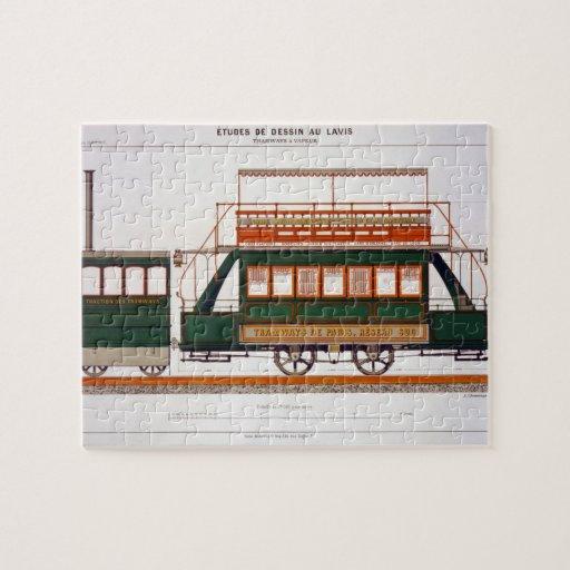 Diseñe para una tranvía del vapor, platee 126 'del puzzles