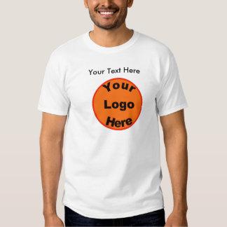 Diseñe su propia camiseta W/Logo y el texto delant Playera