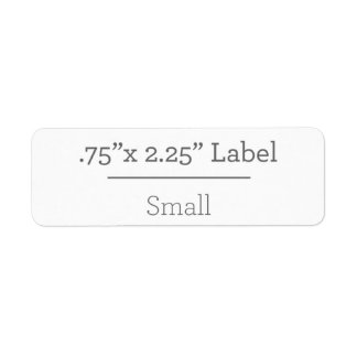 Diseñe su propia etiqueta 8,5 x 11 etiqueta de remite