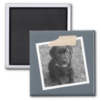 Diseñe su propia foto personalizada imán cuadrado
