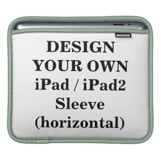 Diseñe su propia manga iPad/iPad2 (horizontal) Mangas De iPad
