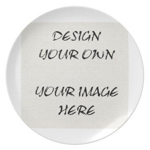Diseñe su propia placa de la exhibición platos de comidas