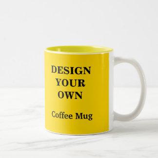 Diseñe su propia taza - amarillo