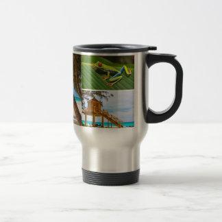 Diseñe su propia taza de café del collage de la fo