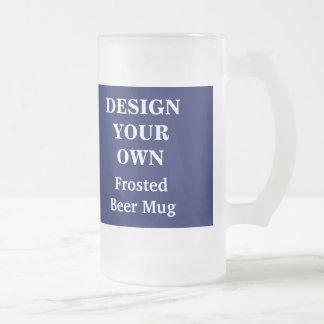 Diseñe su propia taza de cerveza - azul y blanco