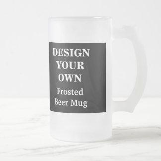 Diseñe su propia taza de cerveza - blanco y negro