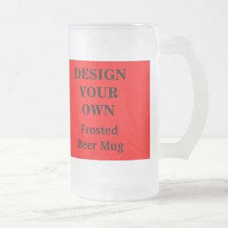 Diseñe su propia taza de cerveza - rojo y blanco