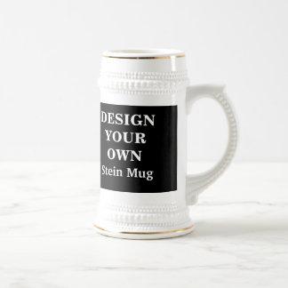 Diseñe su propia taza de Stein - blanco y negro