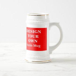 Diseñe su propia taza de Stein - rojo y blanco