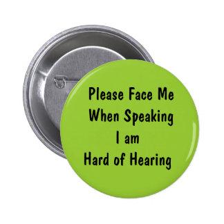 Diseñe su propio botón de la pérdida de oído pins