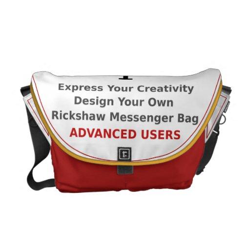 Diseñe su propio creativo avanzada la bolsa de men bolsas messenger