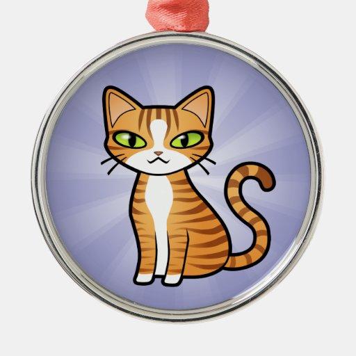 Diseñe su propio gato del dibujo animado adornos