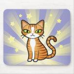 Diseñe su propio gato del dibujo animado alfombrillas de ratón