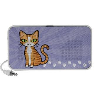 Diseñe su propio gato del dibujo animado portátil altavoces