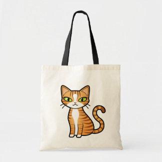 Diseñe su propio gato del dibujo animado bolsa tela barata