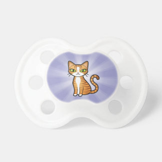 Diseñe su propio gato del dibujo animado chupete de bebé