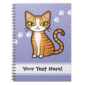 Diseñe su propio gato del dibujo animado cuaderno