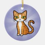 Diseñe su propio gato del dibujo animado ornamentos de navidad