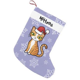 Diseñe su propio gato del dibujo animado (el calcetín de navidad pequeño