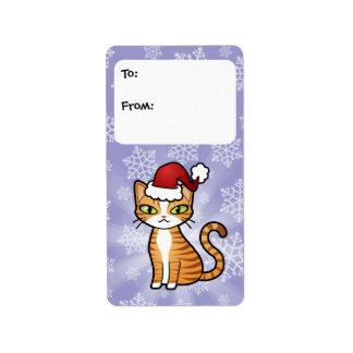 Diseñe su propio gato del dibujo animado (el etiquetas de dirección