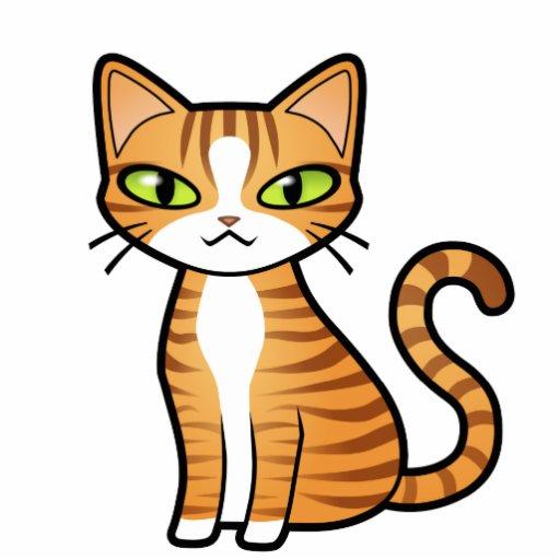 Diseñe su propio gato del dibujo animado imán fotoescultura   Zazzle
