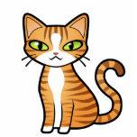 Diseñe su propio gato del dibujo animado esculturas fotográficas