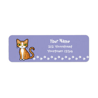 Diseñe su propio gato del dibujo animado etiqueta de remitente