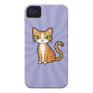 Diseñe su propio gato del dibujo animado Case-Mate iPhone 4 protectores
