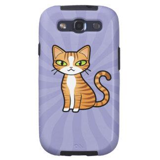 Diseñe su propio gato del dibujo animado samsung galaxy s3 carcasas
