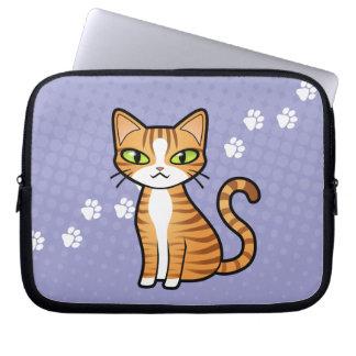 Diseñe su propio gato del dibujo animado fundas ordendadores