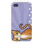 Diseñe su propio gato del dibujo animado iPhone 4 funda