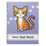 Diseñe su propio gato del dibujo animado libros de apuntes