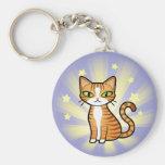 Diseñe su propio gato del dibujo animado llaveros personalizados