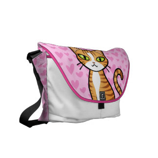 Diseñe su propio gato del dibujo animado (los bolsas messenger