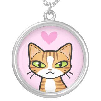 Diseñe su propio gato del dibujo animado (los colgante redondo