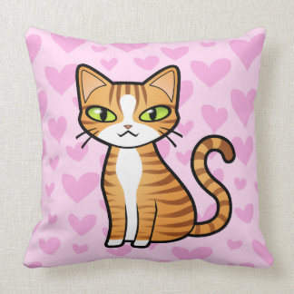 Diseñe su propio gato del dibujo animado (los cora almohadas