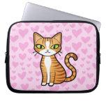 Diseñe su propio gato del dibujo animado (los cora fundas ordendadores