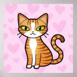 Diseñe su propio gato del dibujo animado (los cora posters